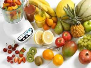 Меню из фруктов
