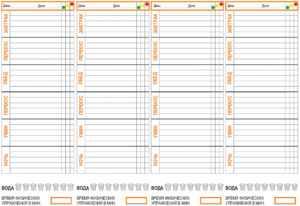 Из каких колонок состоит таблица