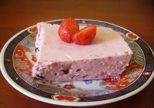 ягодное суфле из творога