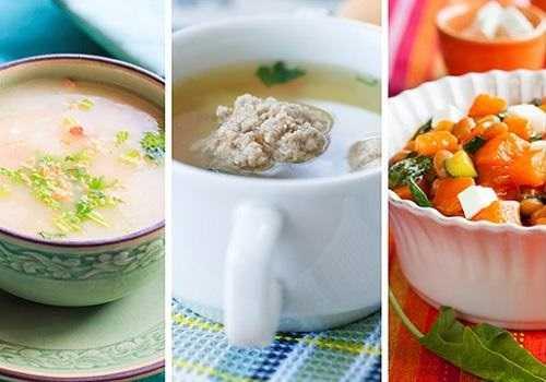 Суп, суп-пюре и овощи