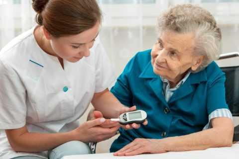 Большинство случаев диабета приходится на людей пожилого возраста