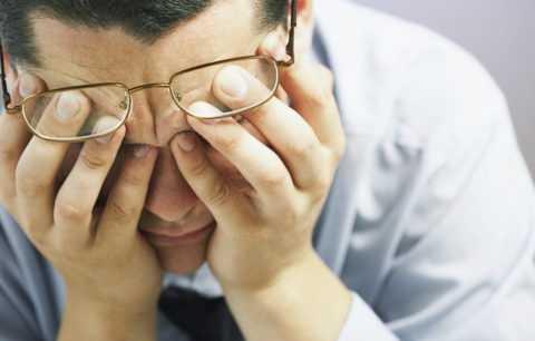 Гипергликемия сопровождается признаками ухудшения зрения.
