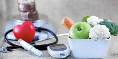 Глюкометр и овощи