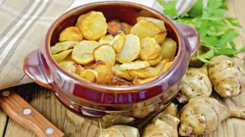 Клубни «солнечного корня» - ценный источник калия, и в отличие от картофеля они не содержат крахмал