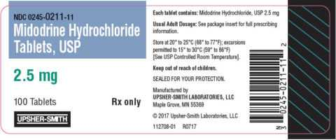 Мидодрин в таблетках