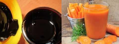 Мумие и морковный сок для смеси