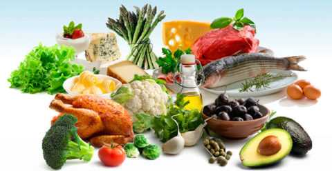 На фото представлены главные составляющие низкоуглеводной диеты для диабетиков
