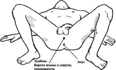 Нажатие и растирание точки Хуэй-инь