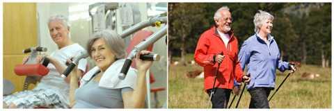 Оптимальная ЛФК при СД2 – силовые упражнения и скандинавская ходьба с палками