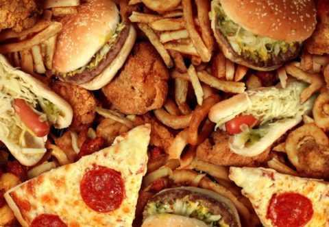Отказ от жирной пищи.
