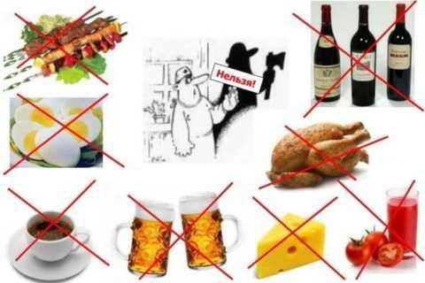 Подагра ставит ряд ограничений на еду