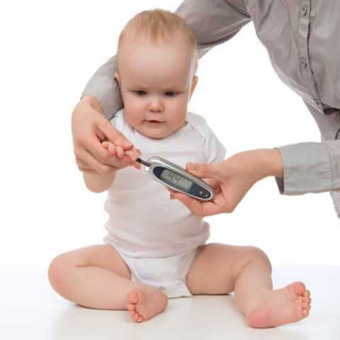 Повышение глюкозы встречается даже у младенцев