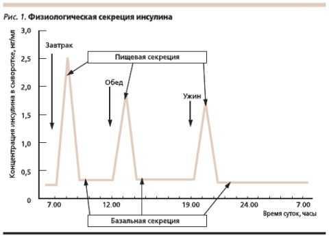 Секреция гормона в норме