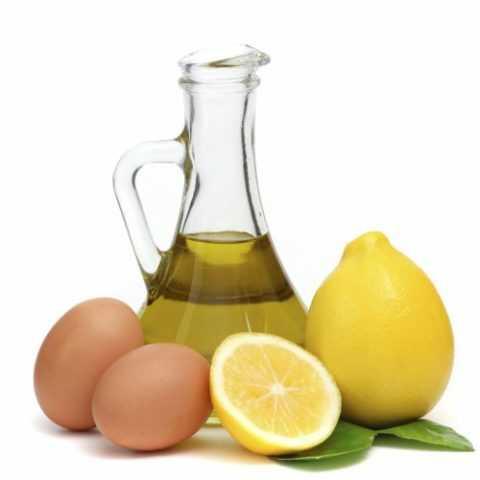 Смесь лимона и яйца