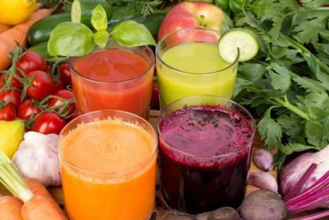 Сок из овощей.