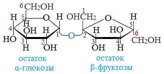 Структурная формула сахарозы