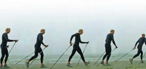 Техника скандинавской ходьбы такова, что её можно заниматься при патологиях локтя