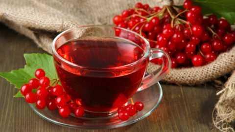 Успокоиться и расслабиться поможет лечебный чай, приготовленный из плодов калины.