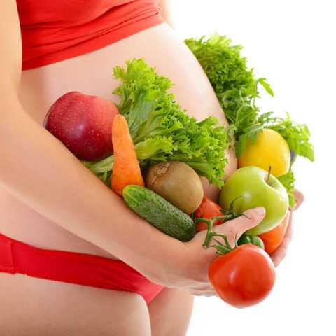 Здоровая пища необходима для правильного течения беременности