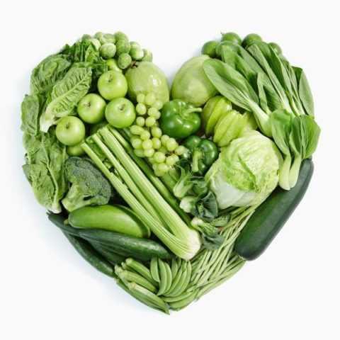 Зеленые овощи несут пользу организму