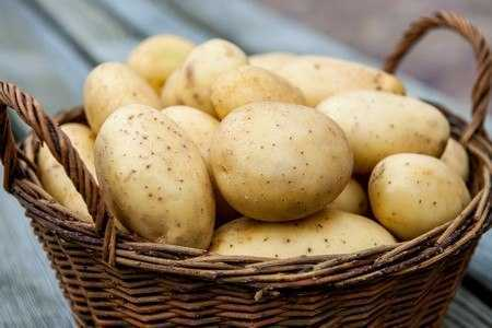 Корзина с картофелем