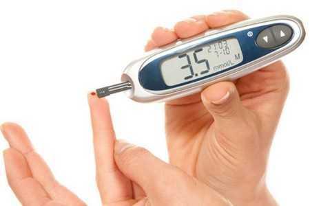 Глюкометр в руках