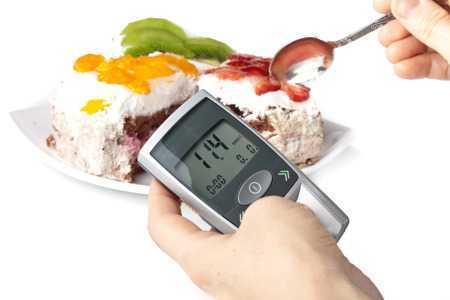 Глюкометр и еда