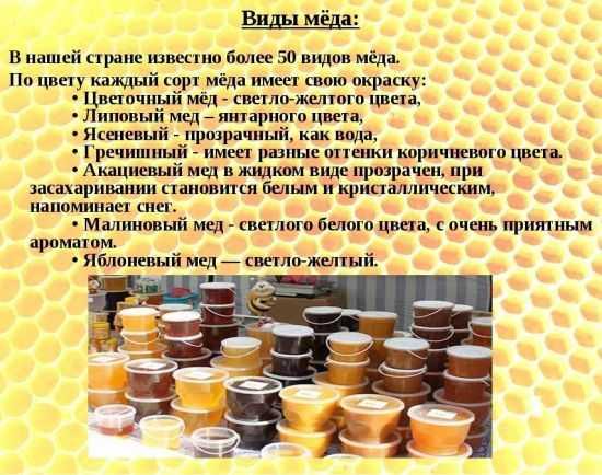 Виды меда
