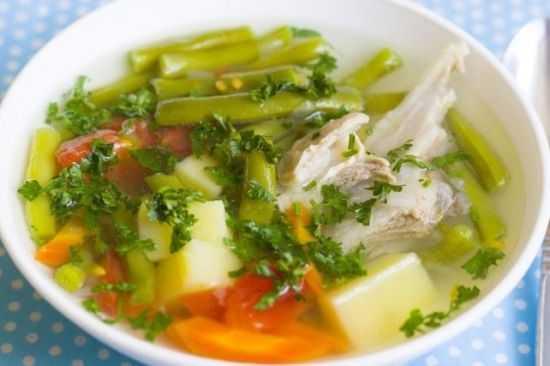 Суп с фасолью и топинамбуром