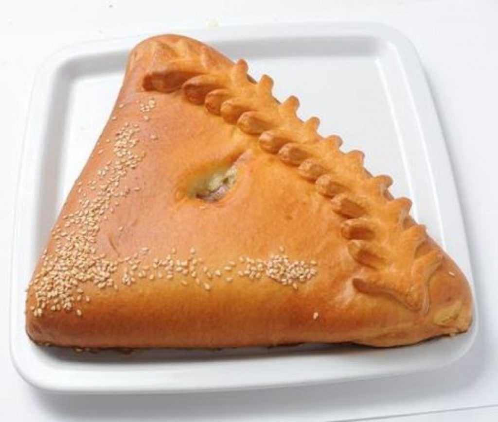 Бездрожжевой пирог с капустой и горохом