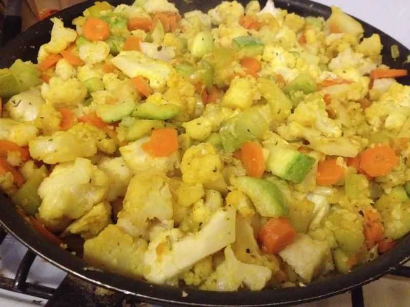 Цветная капуста на сковороде