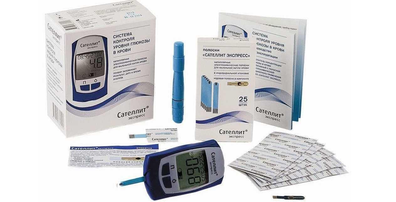 Комплектация глюкометра