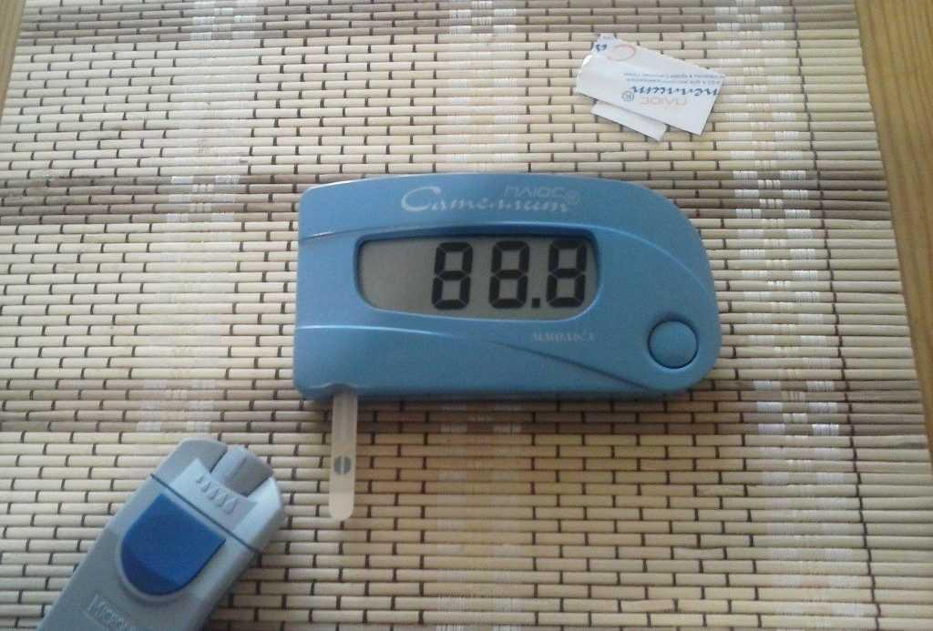 включение глюкометра