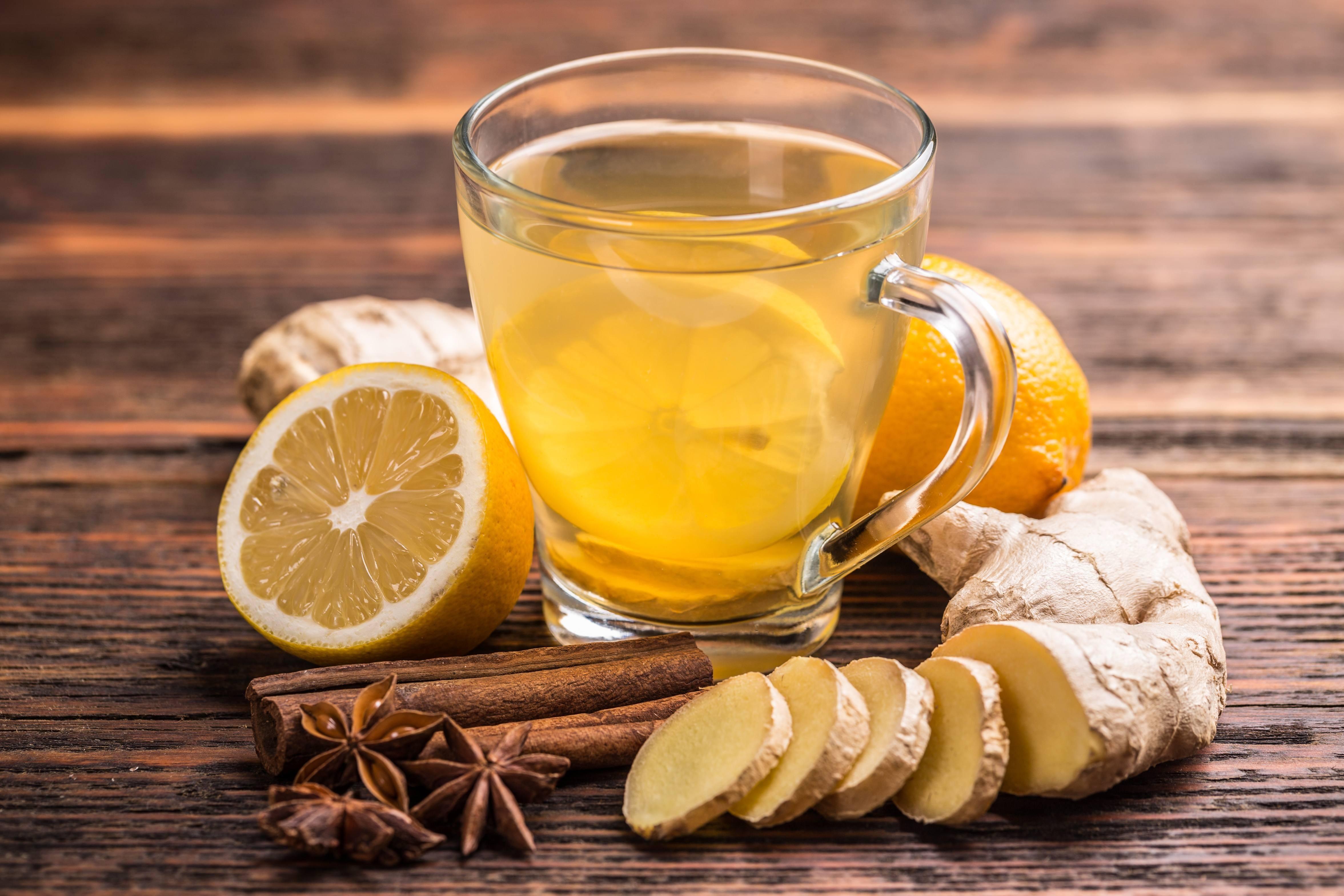 Имбирный зеленый чай