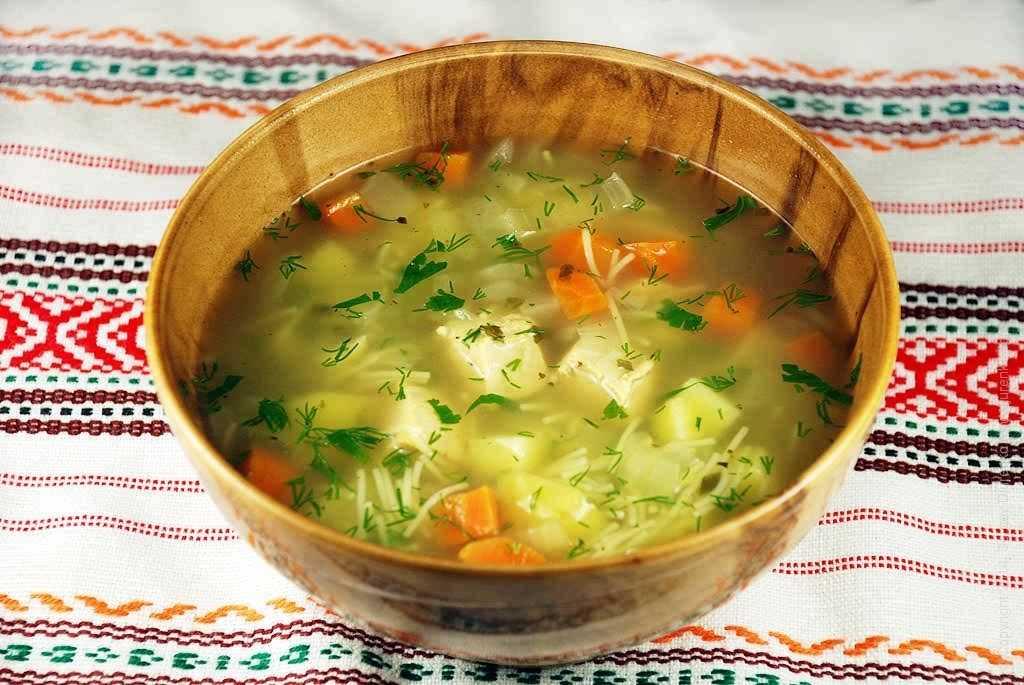 Суп с вермишелью и индейкой