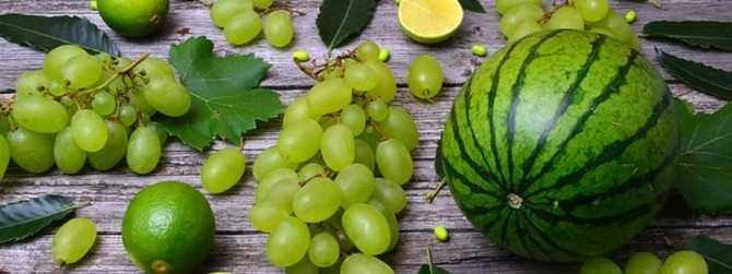 Арбуз и виноград