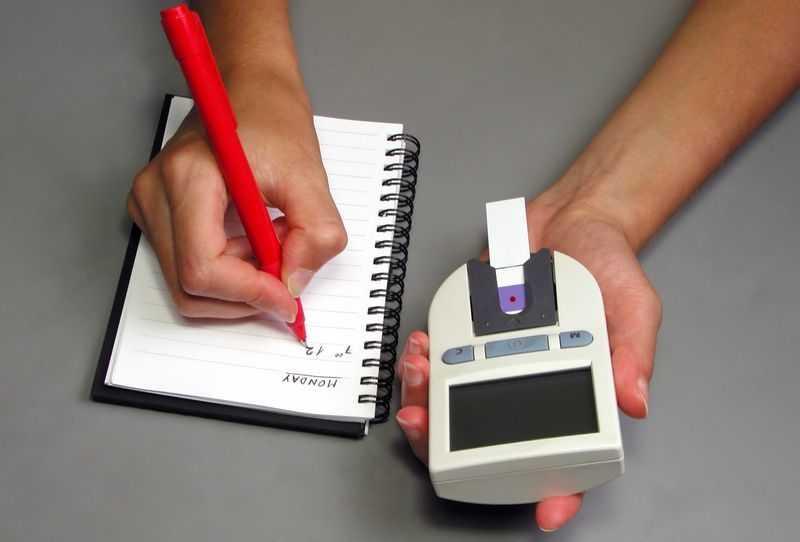 Замер данных для записи в дневник