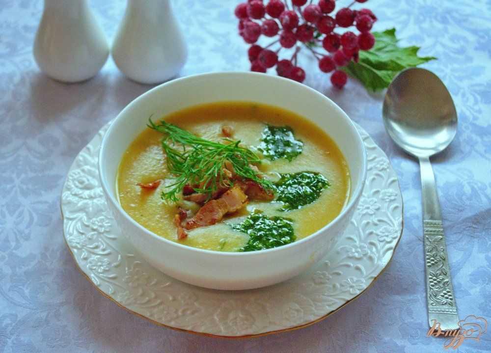 Суп-пюре из гороха и овощей