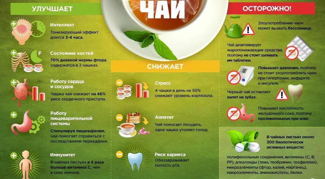 польза употребления чая