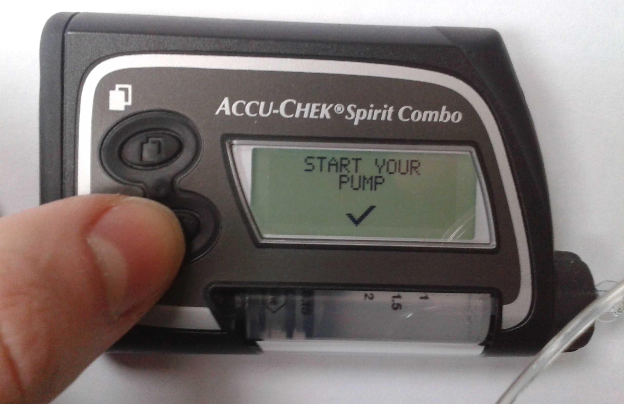 управление инсулиновой помпой