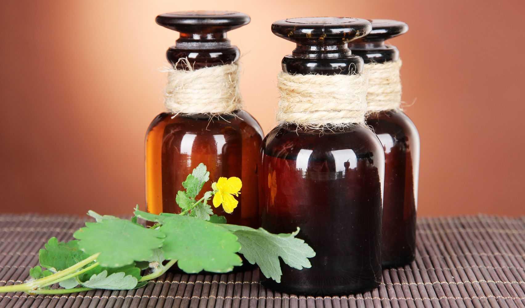сок чистотела и вазелин
